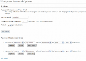 WP-Password Admin 0.6 Screenshot